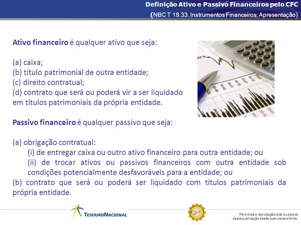 Ativo financeiro é qualquer ativo que seja: (a) caixa;