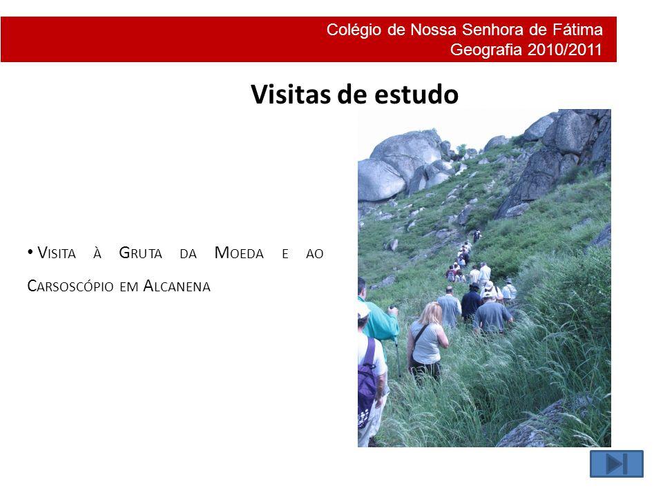 Visitas de estudo Visita à Gruta da Moeda e ao Carsoscópio em Alcanena
