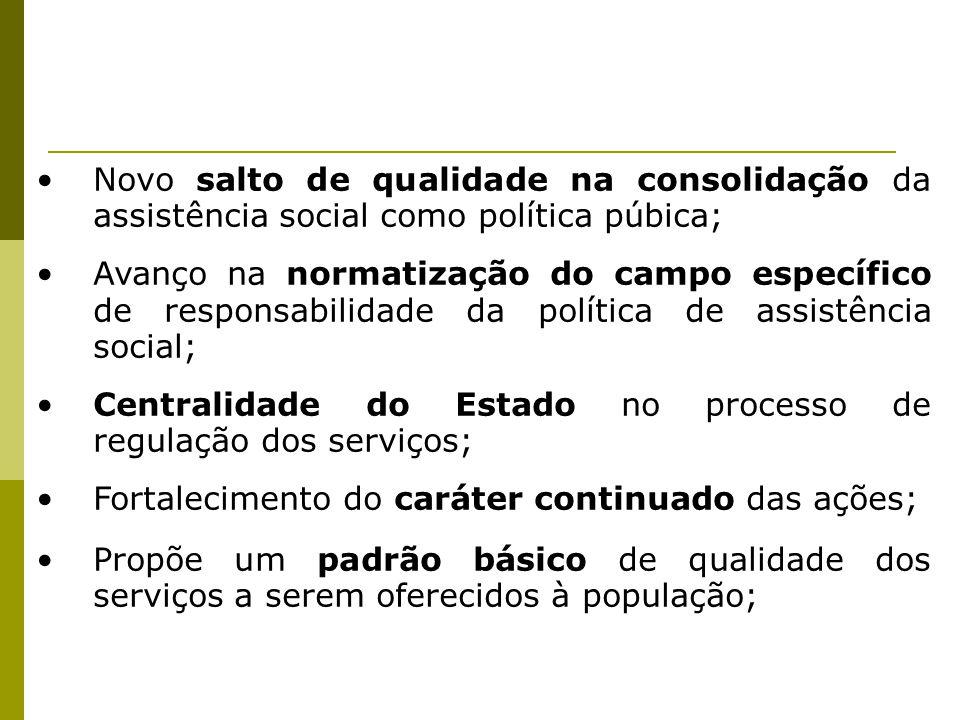 Novo salto de qualidade na consolidação da assistência social como política púbica;