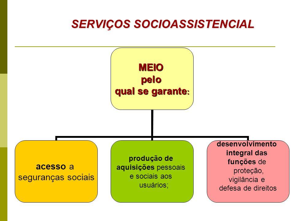 SERVIÇOS SOCIOASSISTENCIAL