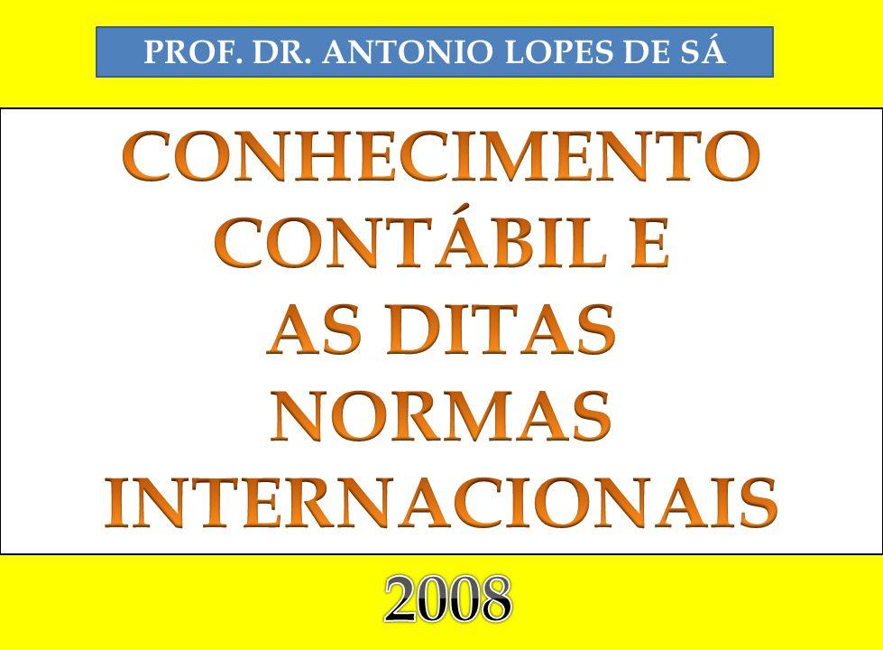 PROF. DR. ANTONIO LOPES DE SÁ NORMAS INTERNACIONAIS
