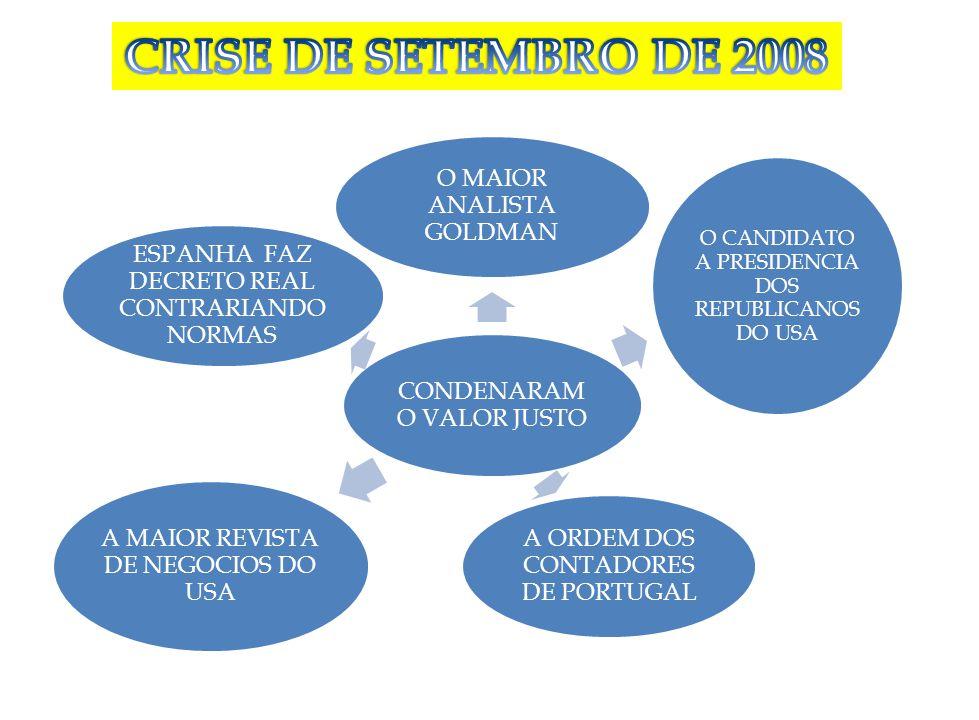CRISE DE SETEMBRO DE 2008 ESPANHA FAZ DECRETO REAL CONTRARIANDO NORMAS