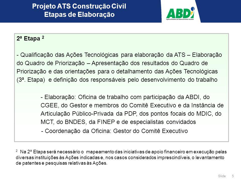 Projeto ATS Construção Civil Etapas de Elaboração
