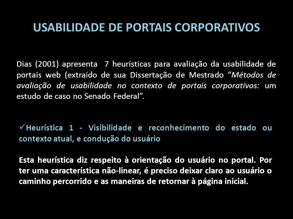 USABILIDADE DE PORTAIS CORPORATIVOS