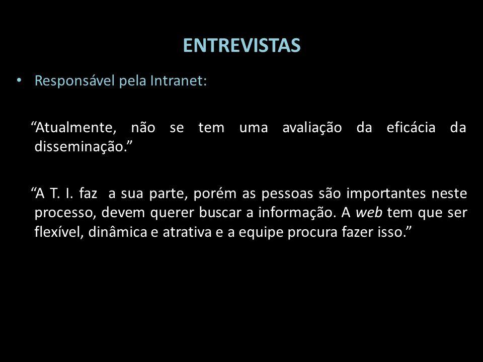 ENTREVISTAS Responsável pela Intranet: