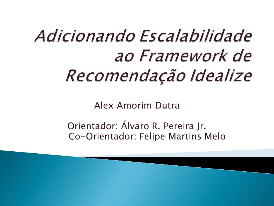 Adicionando Escalabilidade ao Framework de Recomendação Idealize