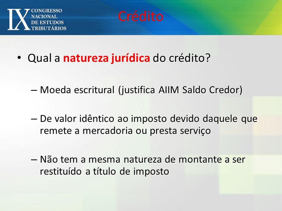 Crédito Qual a natureza jurídica do crédito