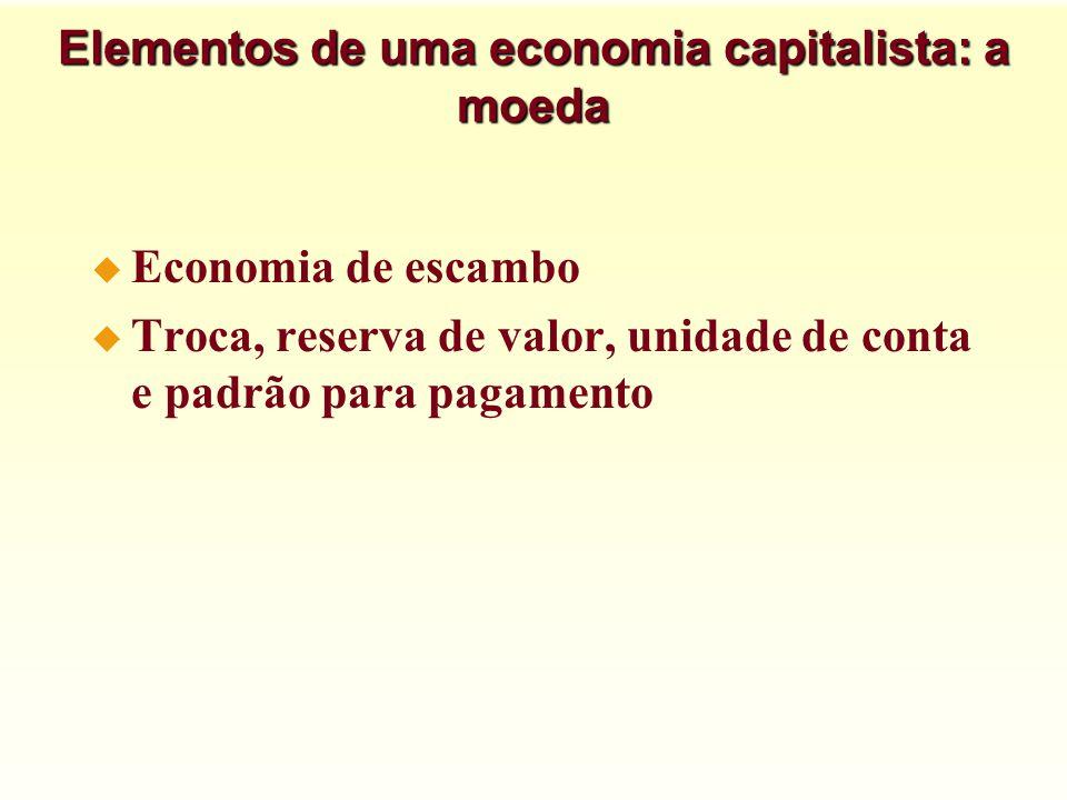 Elementos de uma economia capitalista: a moeda