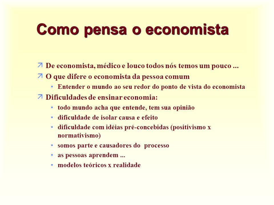 Como pensa o economista