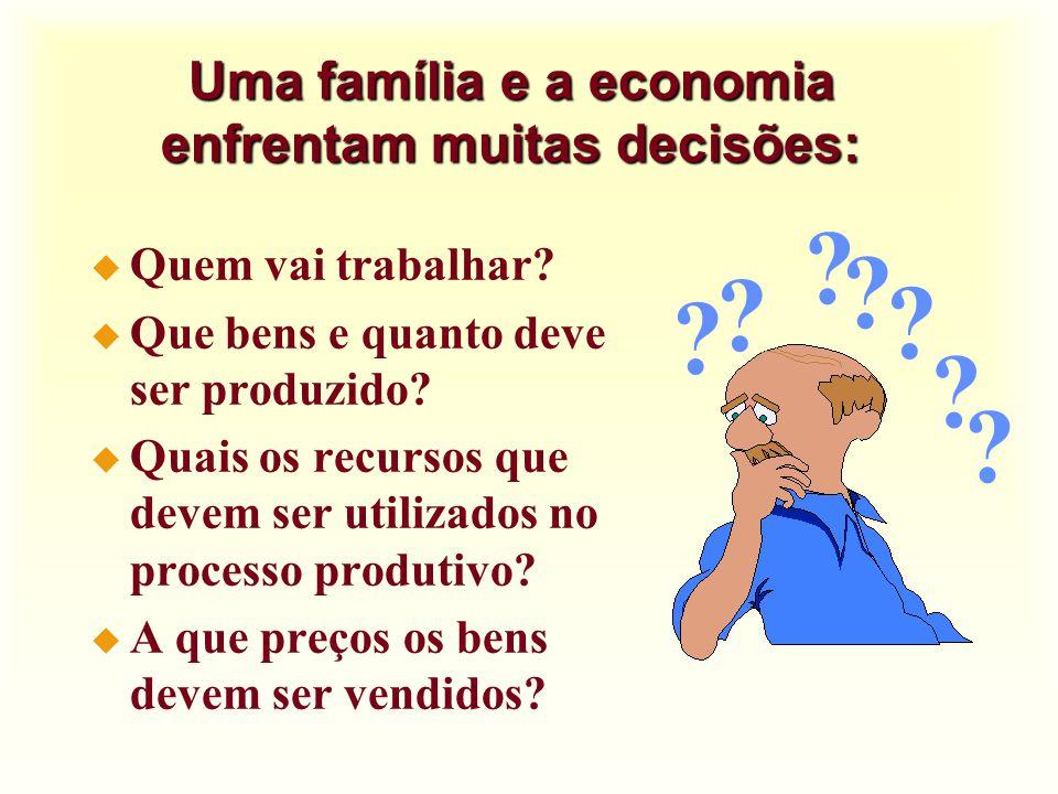 Uma família e a economia enfrentam muitas decisões: