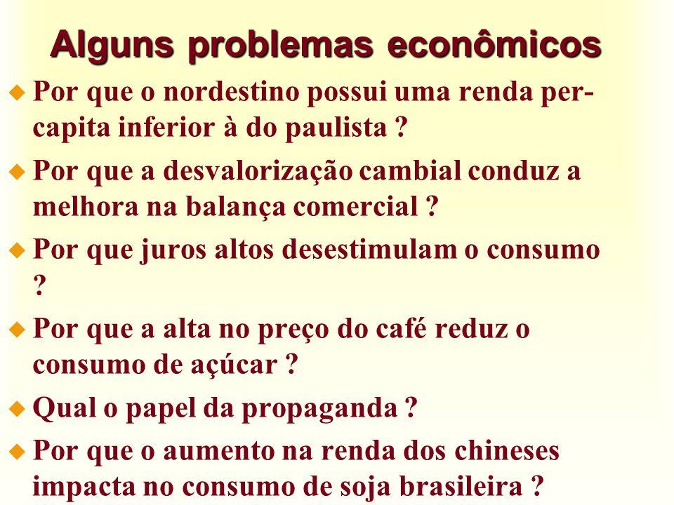 Alguns problemas econômicos
