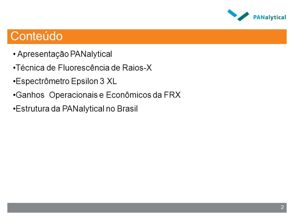 Conteúdo Apresentação PANalytical Técnica de Fluorescência de Raios-X