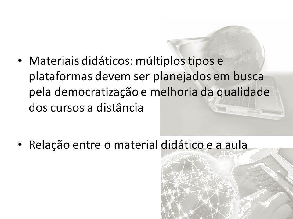 Materiais didáticos: múltiplos tipos e plataformas devem ser planejados em busca pela democratização e melhoria da qualidade dos cursos a distância