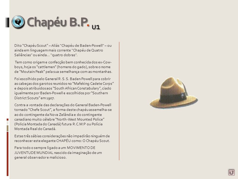 Chapéu B.P. u1