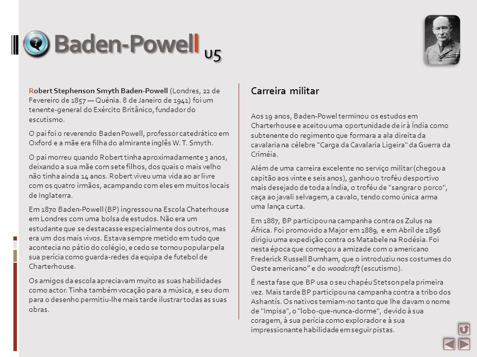 Baden-Powell u5 Carreira militar