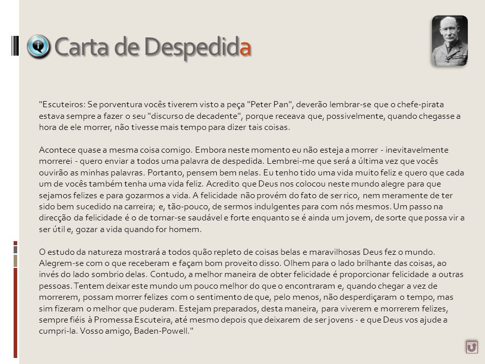Carta de Despedida