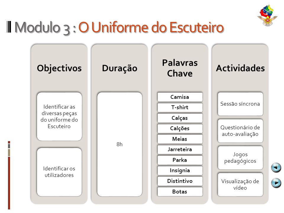 Modulo 3 : O Uniforme do Escuteiro