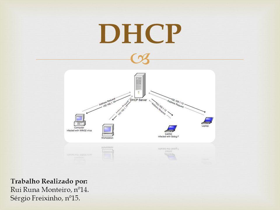 DHCP Trabalho Realizado por: Rui Runa Monteiro, nº14.