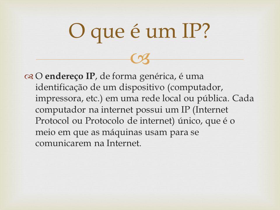 O que é um IP