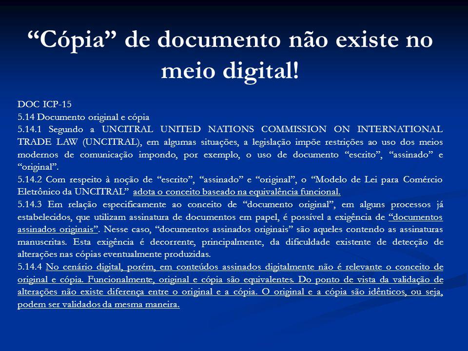 Cópia de documento não existe no meio digital!