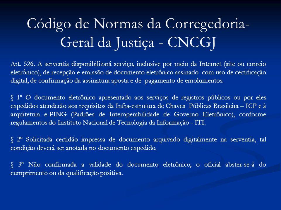 Código de Normas da Corregedoria-Geral da Justiça - CNCGJ