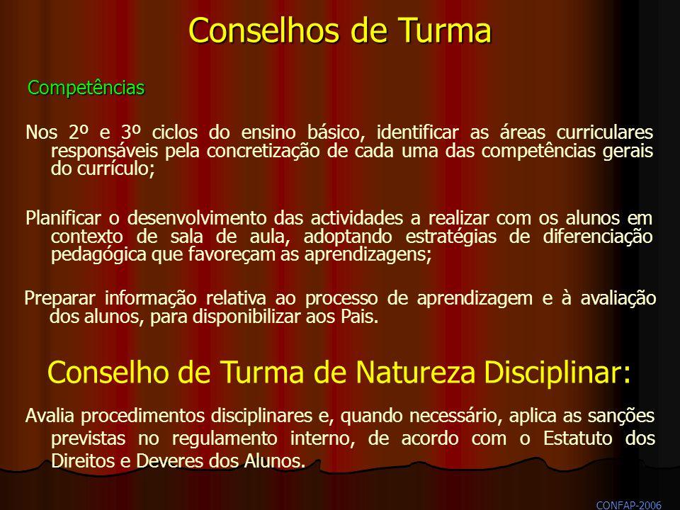 Conselho de Turma de Natureza Disciplinar: