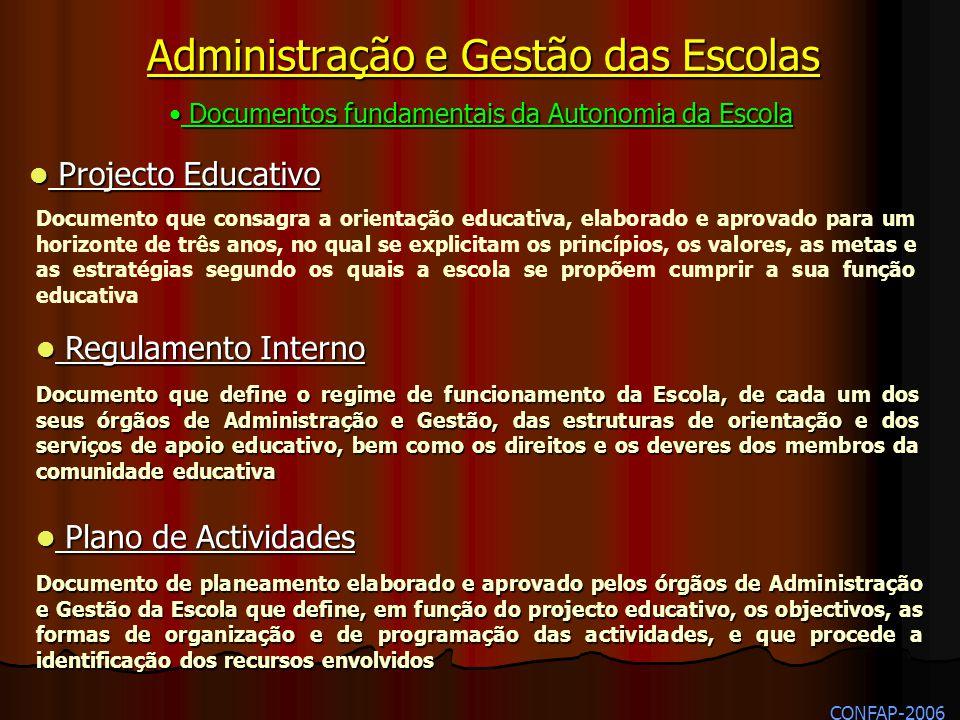 Administração e Gestão das Escolas