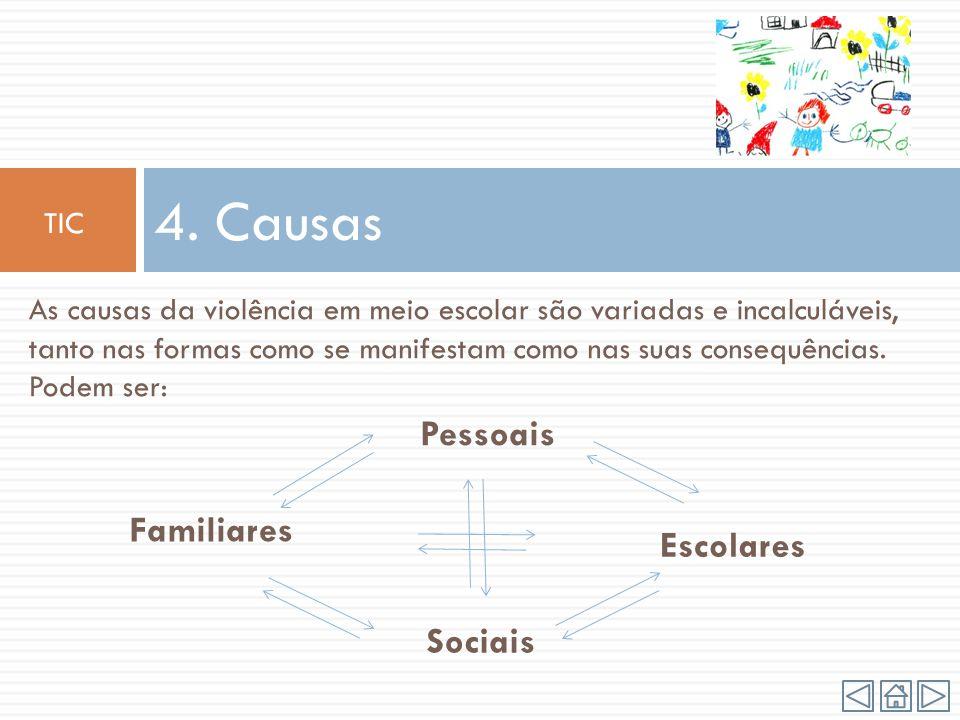 4. Causas Pessoais Familiares Escolares Sociais TIC