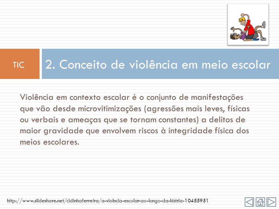 2. Conceito de violência em meio escolar