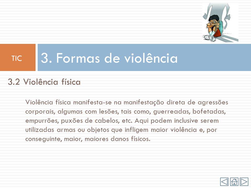 3. Formas de violência 3.2 Violência física TIC
