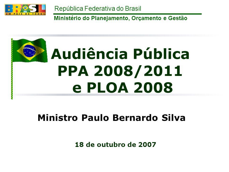 Audiência Pública PPA 2008/2011 e PLOA 2008