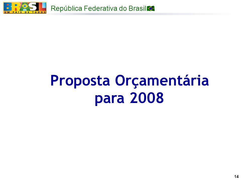 Proposta Orçamentária para 2008