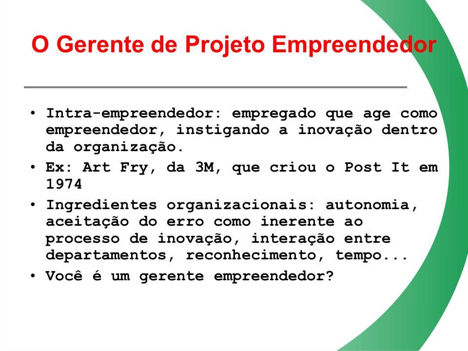 O Gerente de Projeto Empreendedor