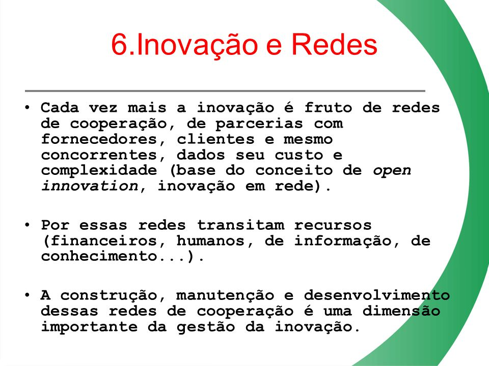 6.Inovação e Redes