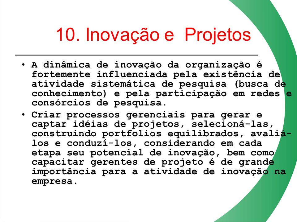 10. Inovação e Projetos