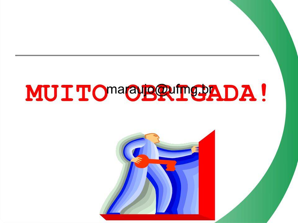 MUITO OBRIGADA! maraujo@ufmg.br