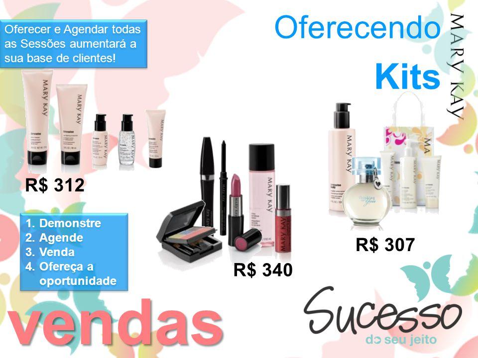 vendas Kits Oferecendo R$ 312 R$ 307 R$ 340