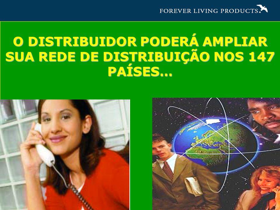 O DISTRIBUIDOR PODERÁ AMPLIAR SUA REDE DE DISTRIBUIÇÃO NOS 147 PAÍSES…