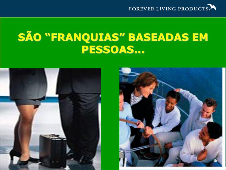 SÃO FRANQUIAS BASEADAS EM PESSOAS...