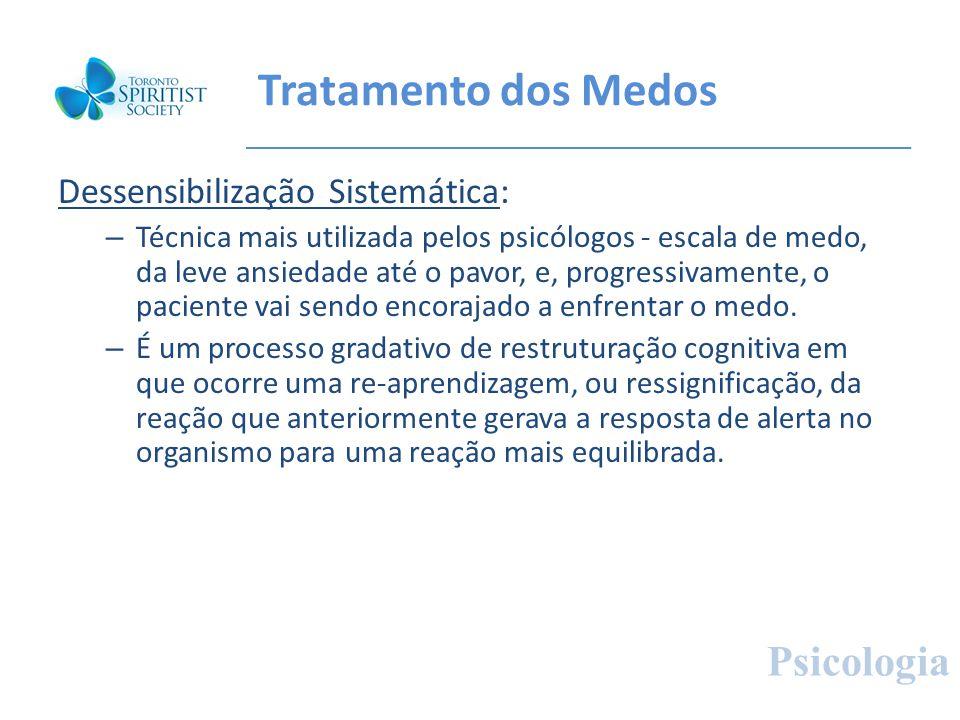 Tratamento dos Medos Psicologia Dessensibilização Sistemática: