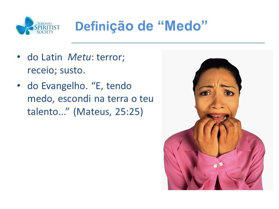 Definição de Medo do Latin Metu: terror; receio; susto.
