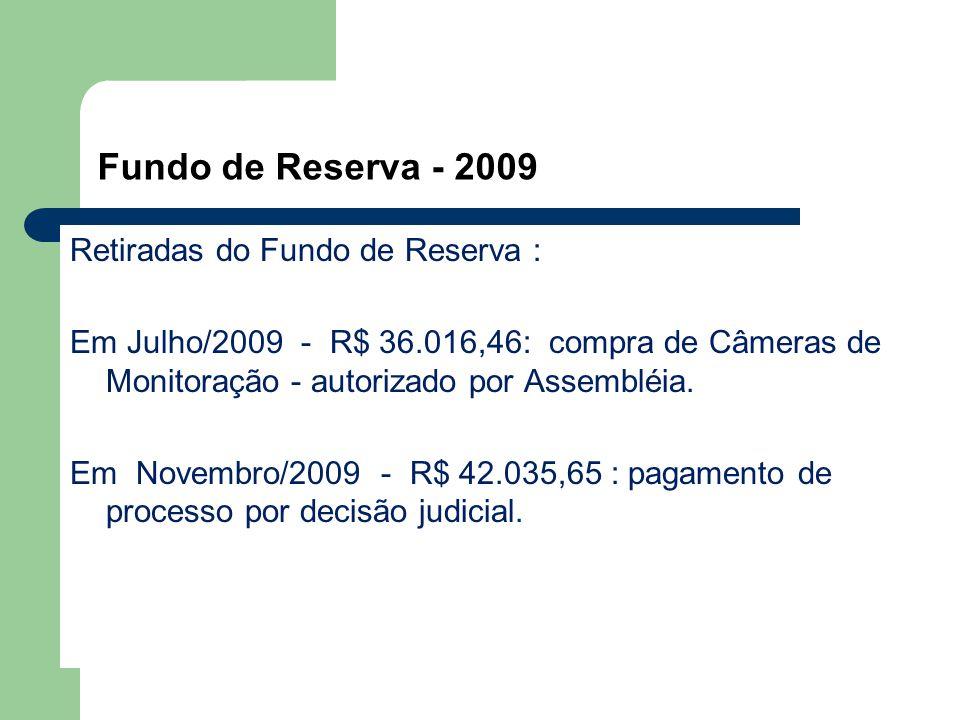 Fundo de Reserva - 2009