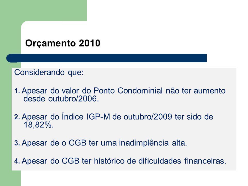 Orçamento 2010 Considerando que: