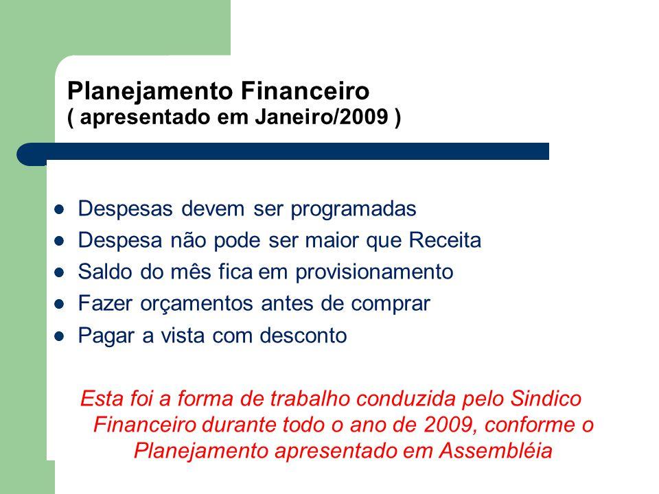 Planejamento Financeiro ( apresentado em Janeiro/2009 )