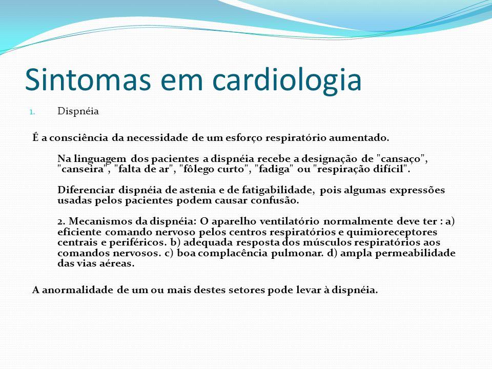Sintomas em cardiologia