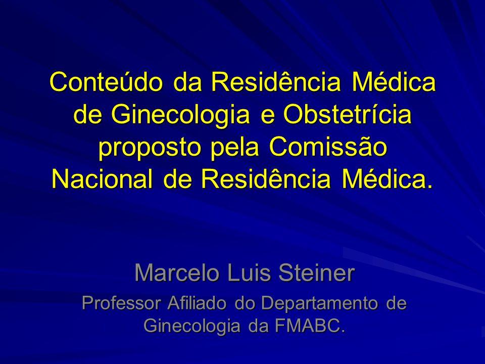 Professor Afiliado do Departamento de Ginecologia da FMABC.