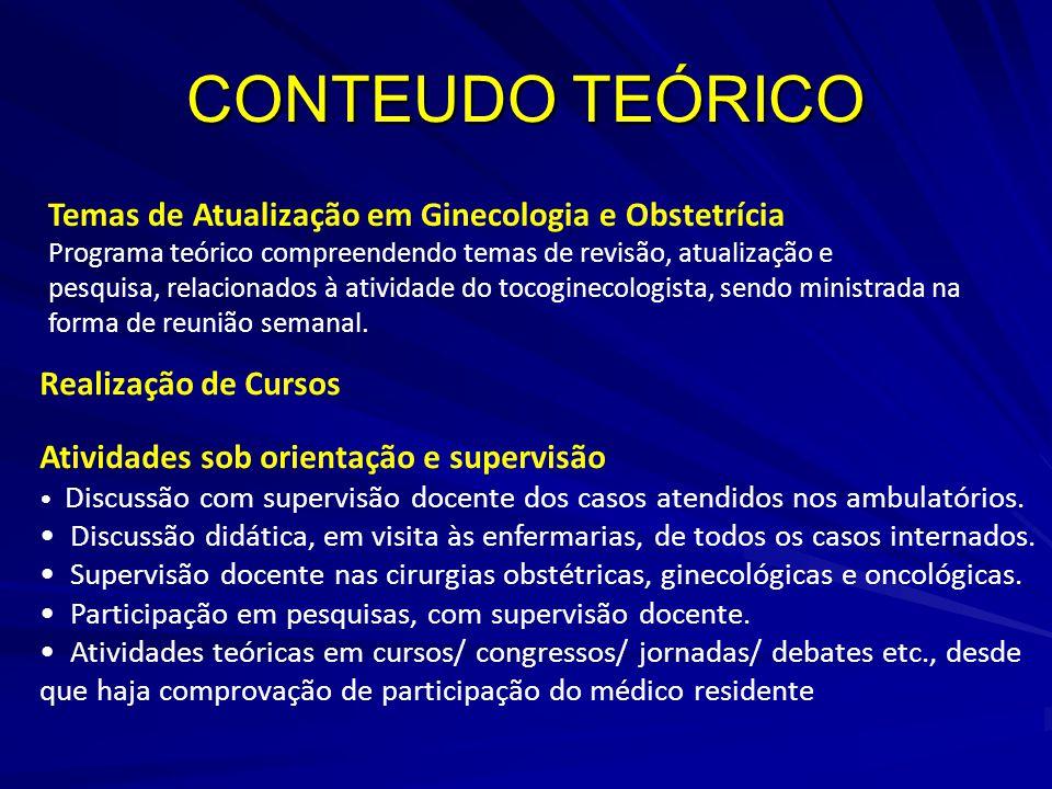 CONTEUDO TEÓRICO Temas de Atualização em Ginecologia e Obstetrícia