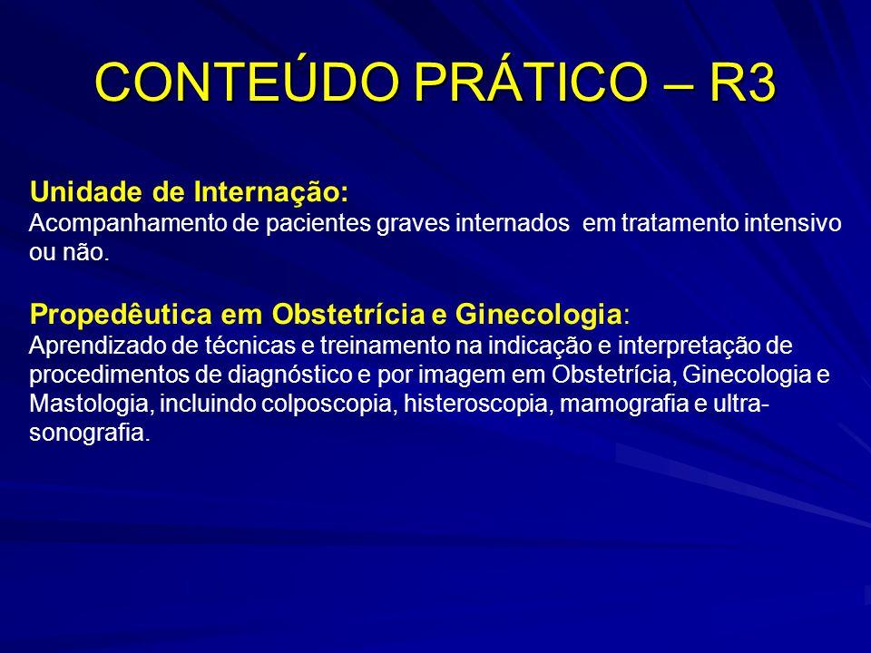 CONTEÚDO PRÁTICO – R3 Unidade de Internação: