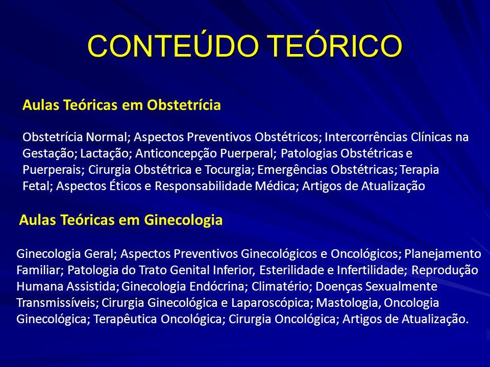 CONTEÚDO TEÓRICO Aulas Teóricas em Obstetrícia