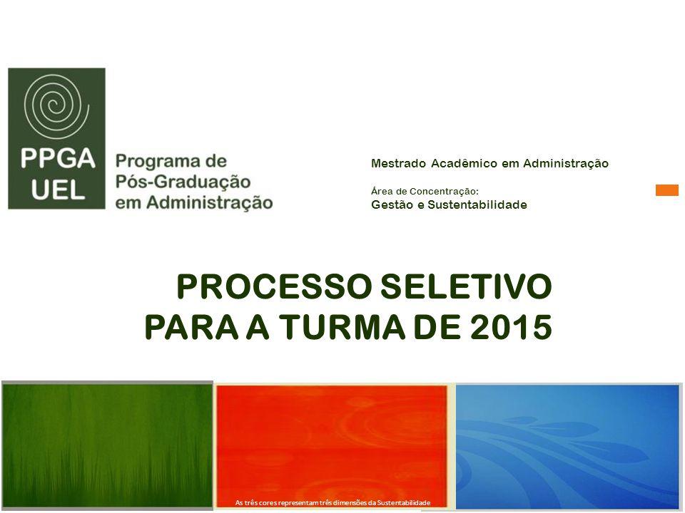 PROCESSO SELETIVO PARA A TURMA DE 2015
